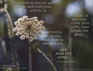 Feeds on Christ